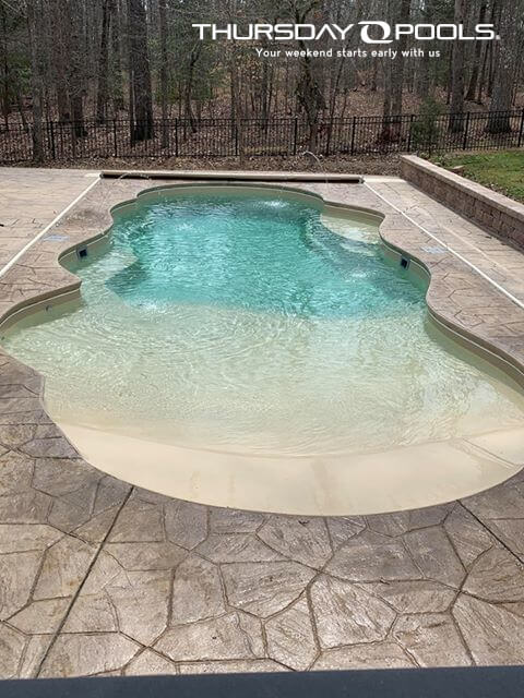 Sandal Beach Entry Fiberglass Pool Thursday Pools